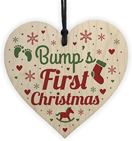 Good friends xmas christmas tree bauble gift wooden heart plaque sign