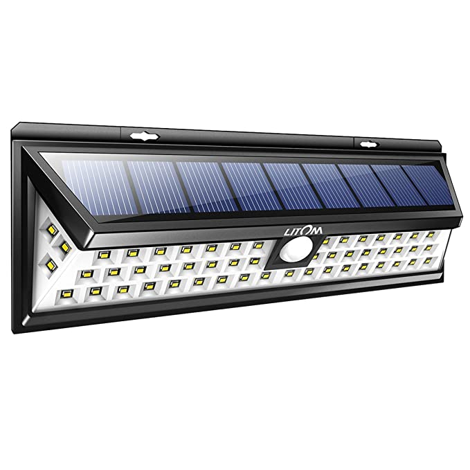 Litom Solar Lights Outdoor 54 Led Super Bright 270 Wide Angle Motion Sensor Wireless Waterproof Security Light For Front Door Yard Garage