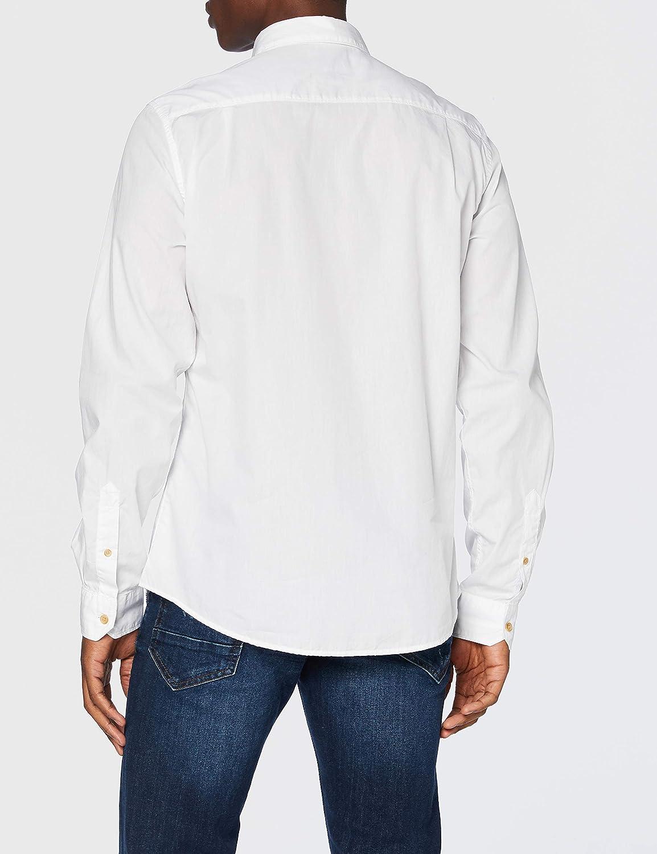 Springfield Camisa Fil Franq-c/99 Casual, Blanco (White ...