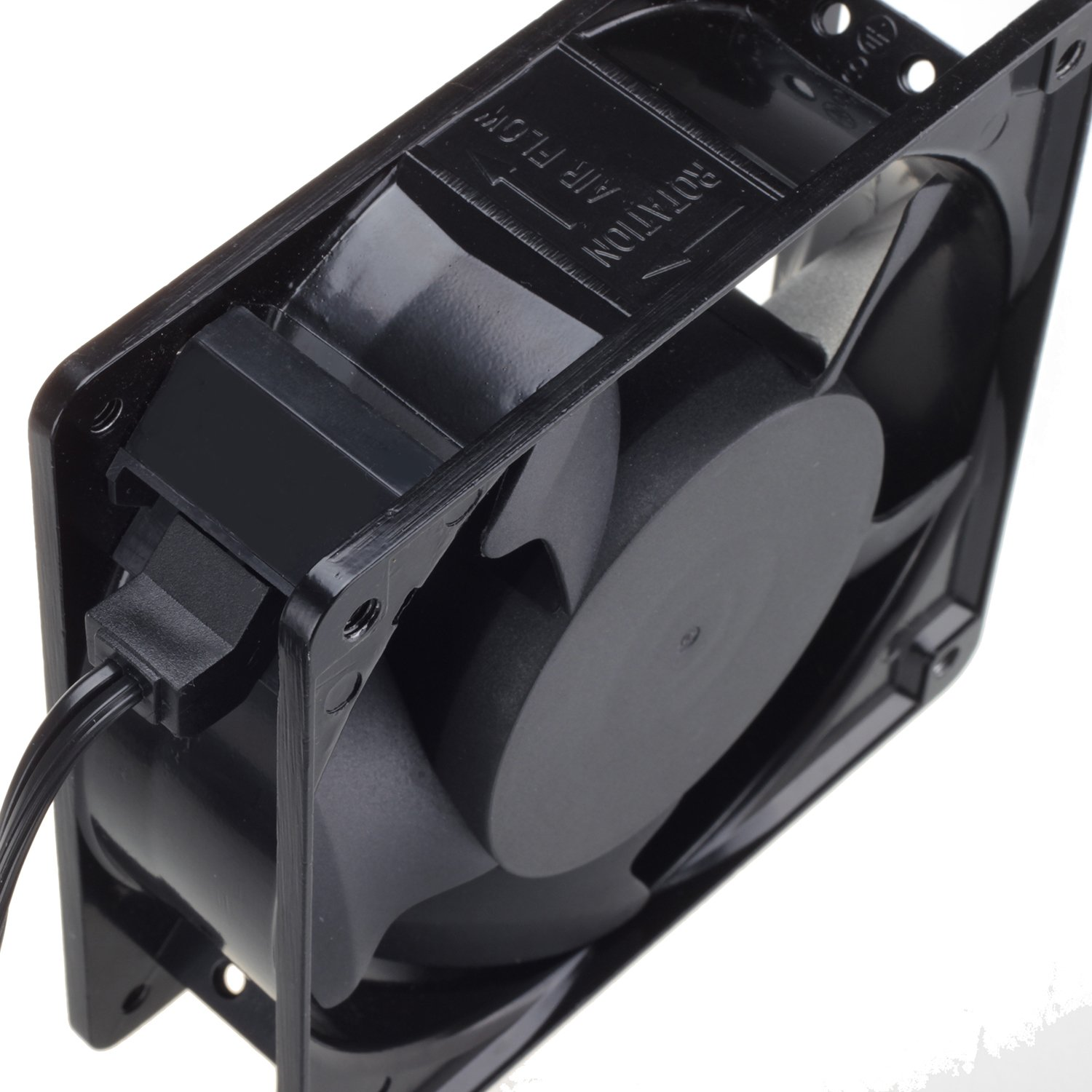 120mm Fan,Zhanye Muffin 1238 AC 120V Computer Axial Cooling Fan, High Speed Exhaust with Metal Net and 4-feet Power Cord by Zhanye (Image #3)