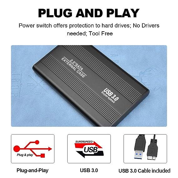 AUPEL Disco Duro Externo USB 3.0 Disco Duro Externo para Mac, PC, PS4,MacBook, Chromebook, Xbox (2tb, Negro): Amazon.es: Electrónica