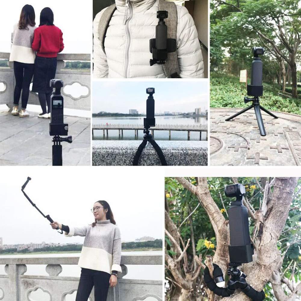 Kingwon Adaptador de Montaje en tr/ípode con 1//4 Tornillo de Conversi/ón de Aluminio CNC para OSMO Pocket Accesorios Adecuado para Tr/ípode Selfie Stick