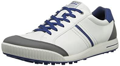 Ecco Golf Mens Limited Edition Street Shoes 2014 White Royal Euro 41 UK
