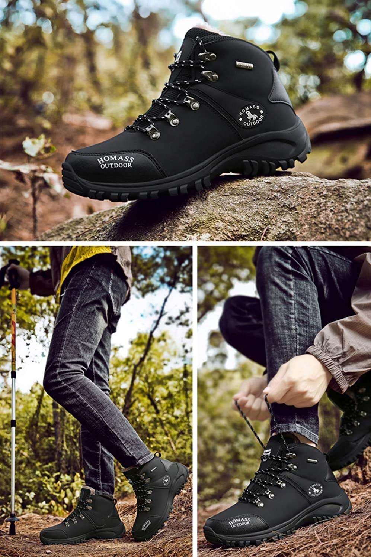 UCNHD Wanderhalbschuhe Warme Wanderschuhe Für Herren Tragbare Stiefel Stiefel Stiefel Atmungsaktive Trekkingschuhe Turnschuhe 5ee5dd