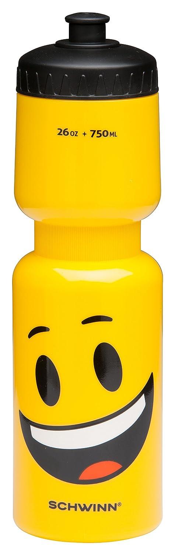 Schwinn Emoticon Water Bottle with Smiley, 26 oz, Styles