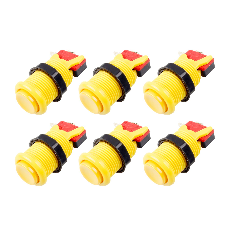 Color de la Mezcla Jamma Mame Kit 4.8 mm EG STARTS 6X Americano Estilo Est/ándar Botones Arcade Switches conmutables Tipo Happ de 30mm Terminales de 187