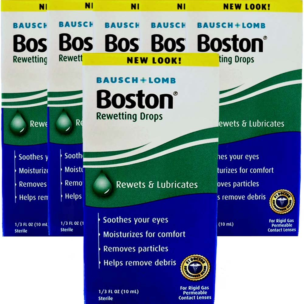 Boston Rewetting Drops for Rigid Gas Permeable Contact Lenses - 0.33 Ounce, 6 Pack Valeant Pharm North Ameri