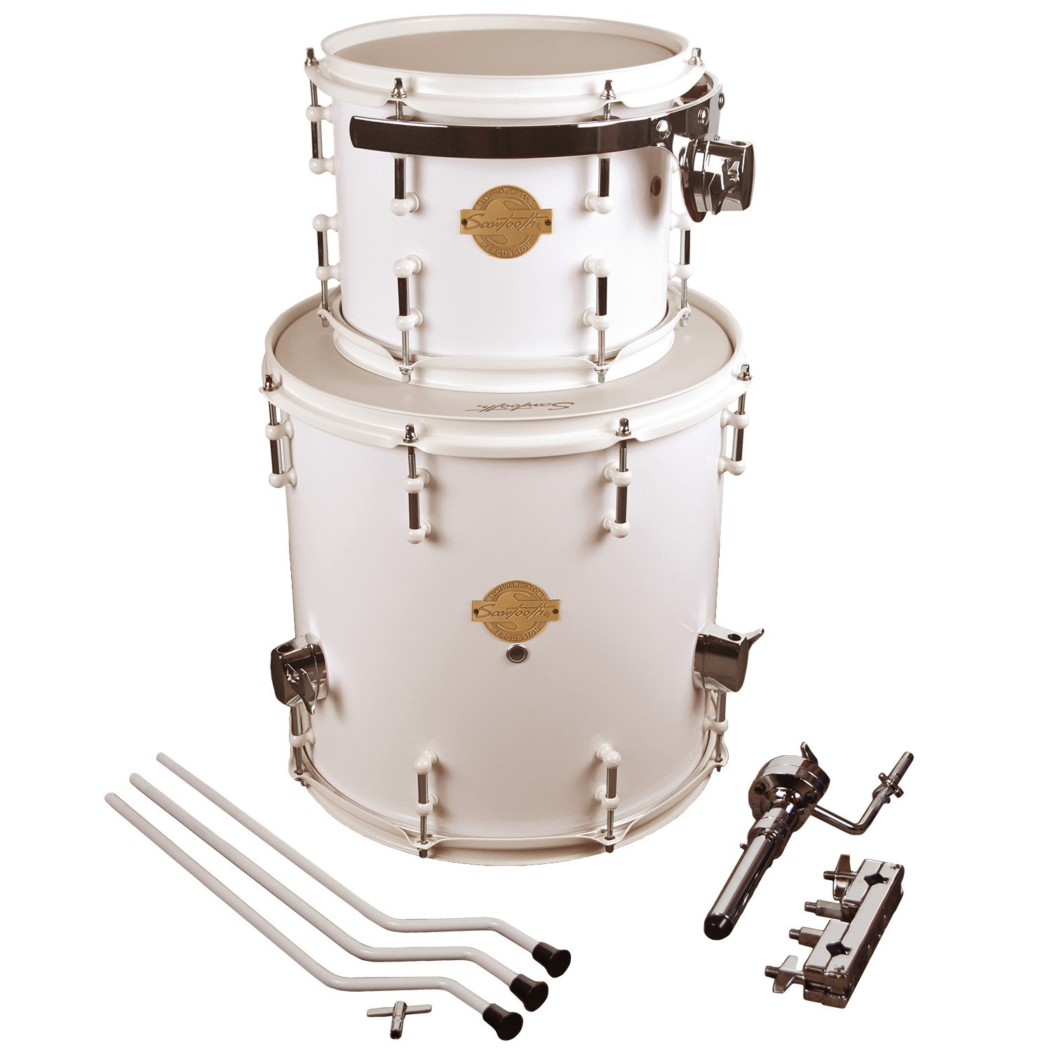 Sawtooth Command Series Extension Pack-Includes: 8'' 14'' Floor Tom, White, inch (ST-COM-TE