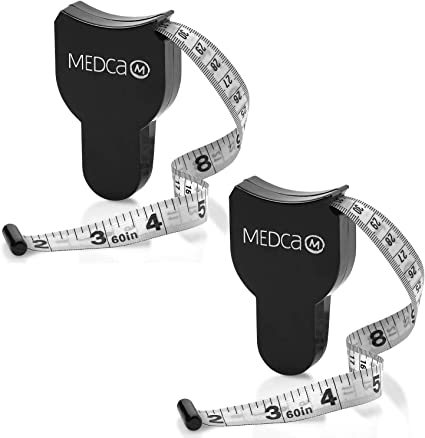 Fitness accurate body tape measure ruler measure body fat caliper health carALUK