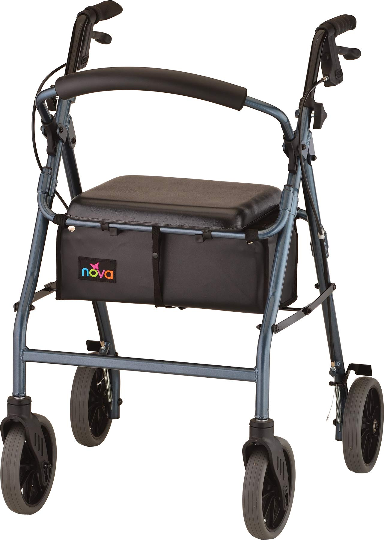 NOVA Zoom Rollator Walker with 24'' Seat Height, Blue by NOVA Medical Products