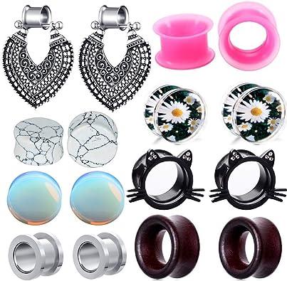 Amazon.com: Tianci FBYJS - 8 pares de dilatadores de oreja ...
