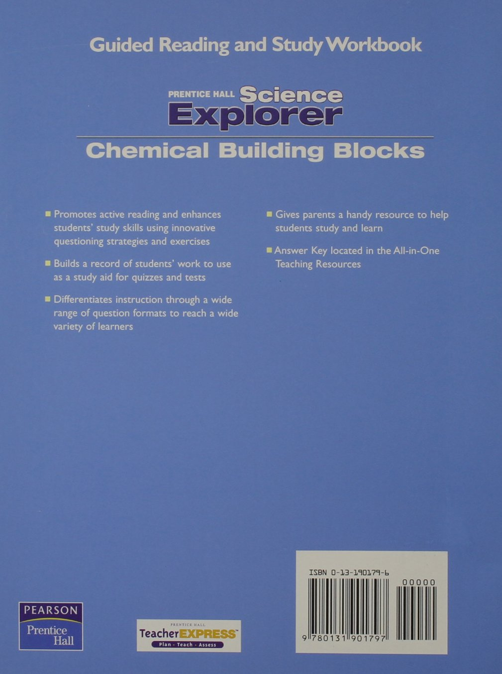 SCIENCE EXPLORER CHEMICAL BUILDING BLOCKS GUIDED READING AND STUDY ...