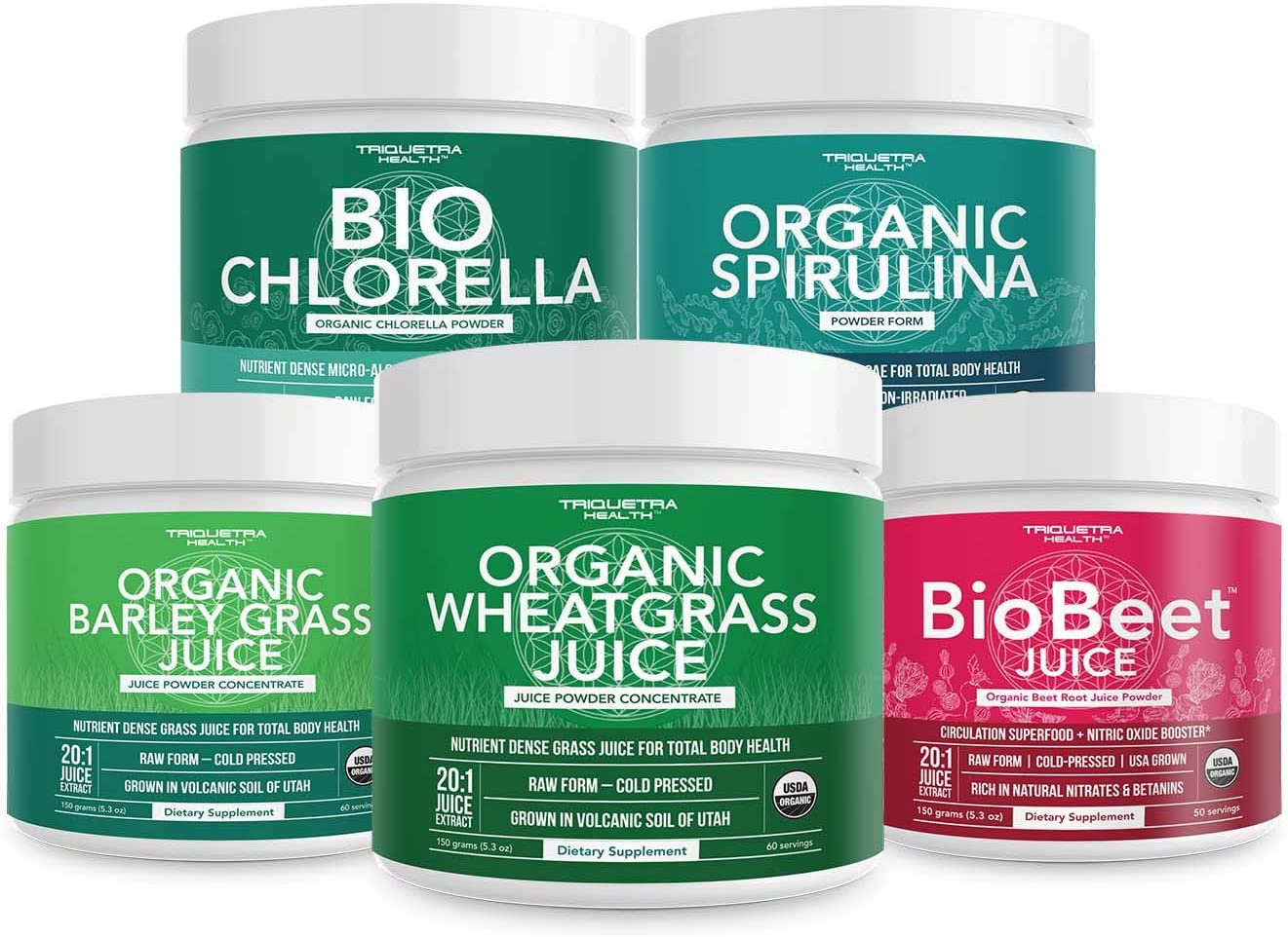 Organic Beetroot Juice Powder, Organic Spirulina Powder, Organic Chlorella Powder, Organic Wheatgrass Juice Powder, Organic Barley Grass Juice Powder