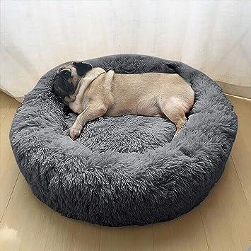 für Wuudi Form Hundebett Weich Katzenbett und Weich Haustierbett Rund in Doughnut HaustiereWelpenHaustierKatzenbett zMLUVpGqS