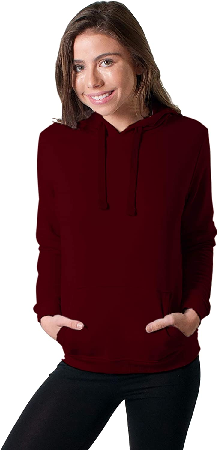 Friday Chic Women's Basic Pullover Hoodie with Front Pocket