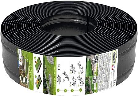 AMISPOL® Flexible Borde de Jardín, Bordillo Escondido - 125/4 mm, longitud 25 m