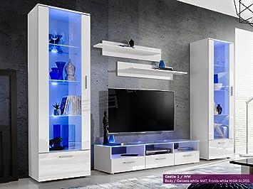 Living Room High Gloss Furniture Set Display Wall Unit Modern Tv