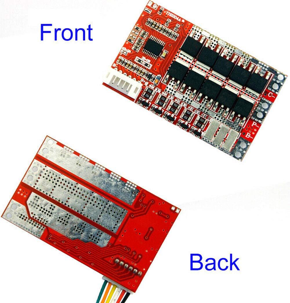 winwill 3S 4S 5S 50A w//Balance 3.7V 18650 bater/ía de Litio Placa de protecci/ón PCB BMS