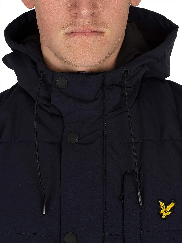 Lyle /& Scott Mens Wadded Hooded Bomber Coat