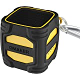 Omaker Bluetoothスピーカー 小型/爆音/クールデザイン(3m落下テスト済み/12時間連続再生可能)キューブサイズ ポータブルワイヤレススピーカー (イエロー+ブラック) W4N
