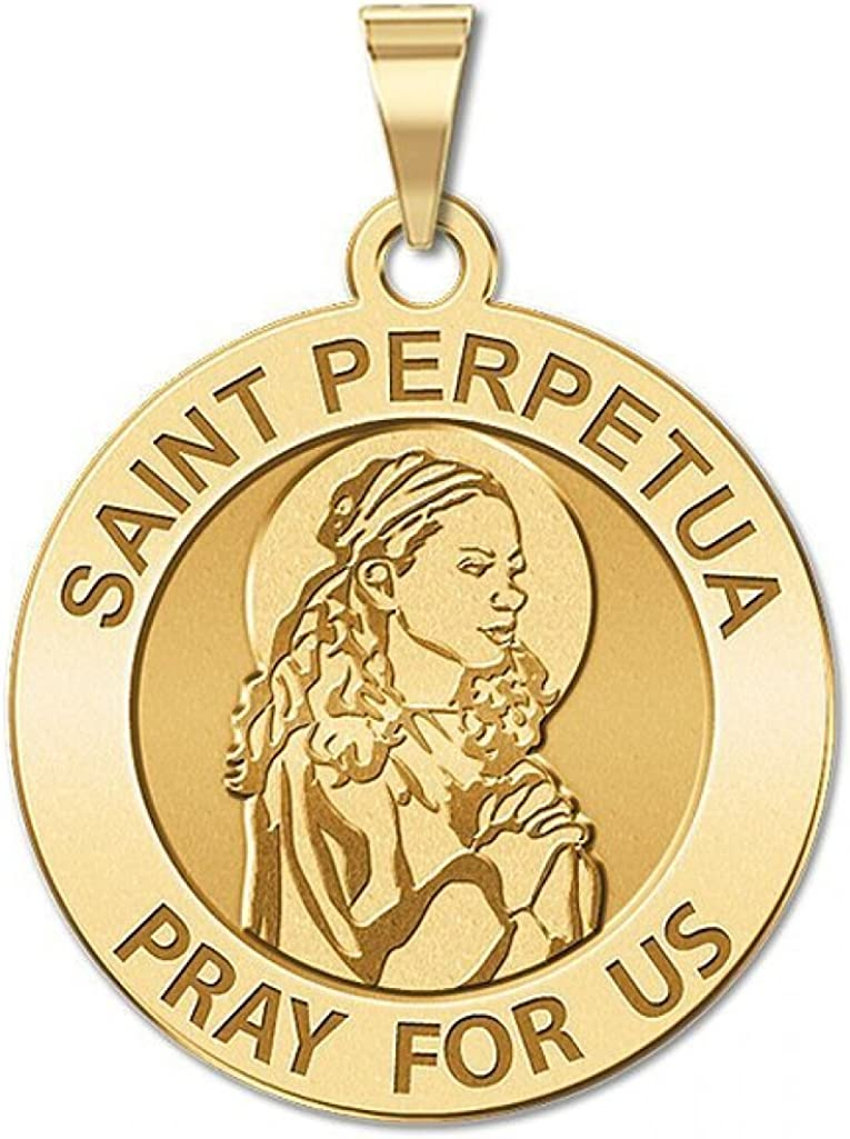 St Perpetua And Felicity Religious Necklace Round Medal