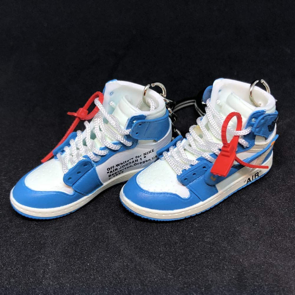 new concept db074 895bc Amazon.com: Pair Air Jordan 1 I High Retro Off White UNC ...
