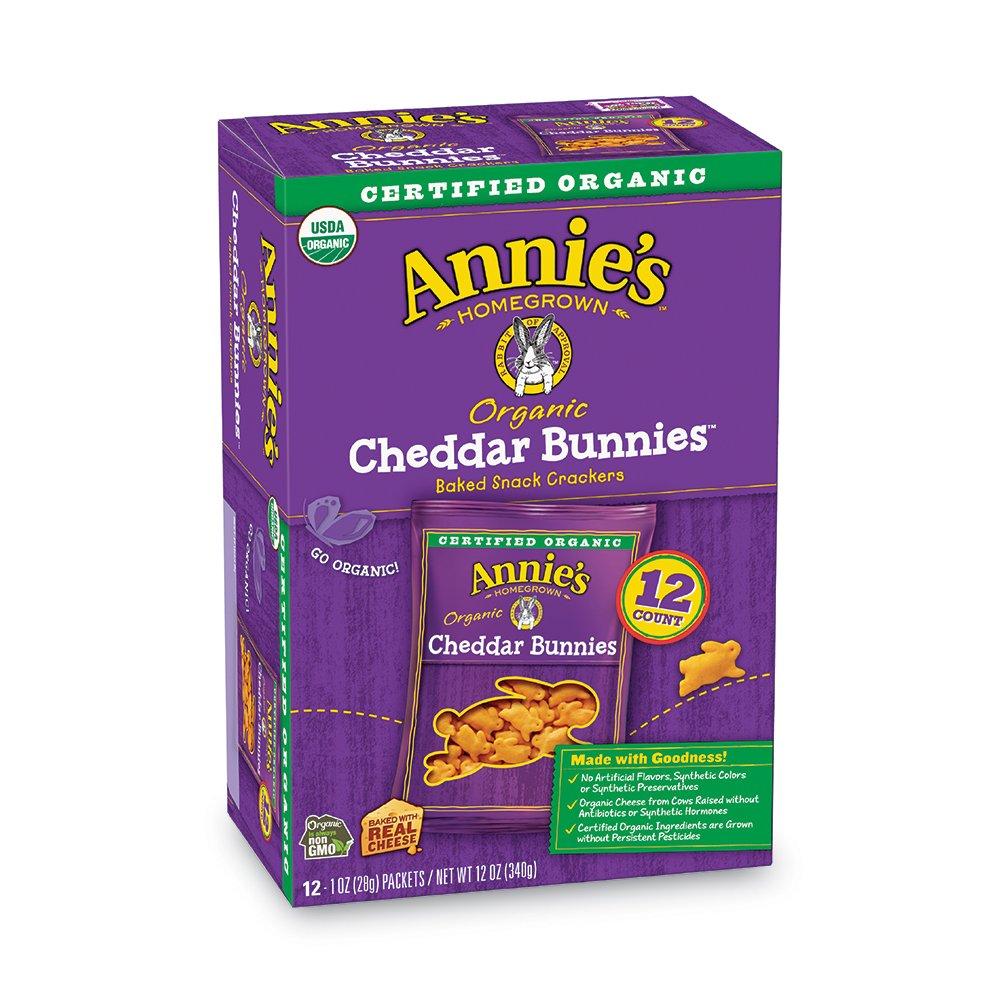 Annie's Organic Cheddar Bunnies Baked Graham Snacks, 12 oz