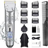 Haarschneidemaschine, ADOKEY Profi Haarschneider Maschine Herren Akku Haarscherer Set IPX7 Wasserdicht Elektrisch Langhaarschneider Haarrasierer Bartschneider Haartrimmer für Männer mit LCD Anzeige
