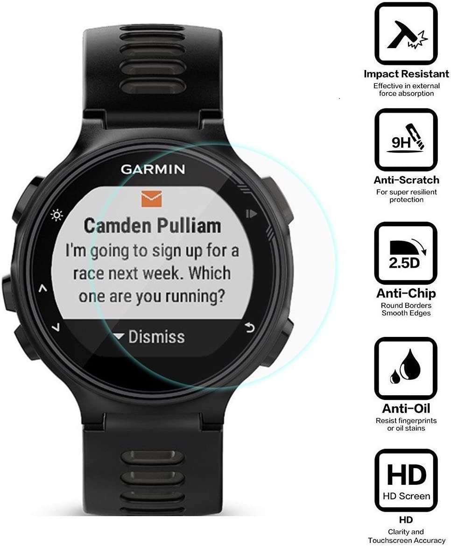 BlueBeach® 2 Piezas Garmin Forerunner 735XT Protector de Pantalla HD Vidrio Templado (0.3mm 2.5D 9H Dureza): Amazon.es: Electrónica