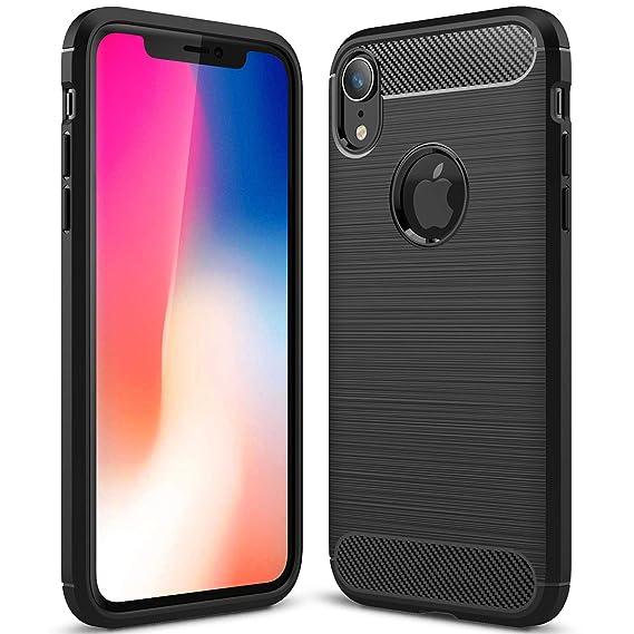 quality design 3b48d adfb8 Amazon.com: iPhone Xr Case,WATACHE Brush Metal Design with Carbon ...