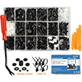 EZYKOO 465 Pcs Car Retainer Clips & Plastic Fasteners Kit - 19 Most Popular Sizes Auto Push Pin Rivets Set -Door Trim…