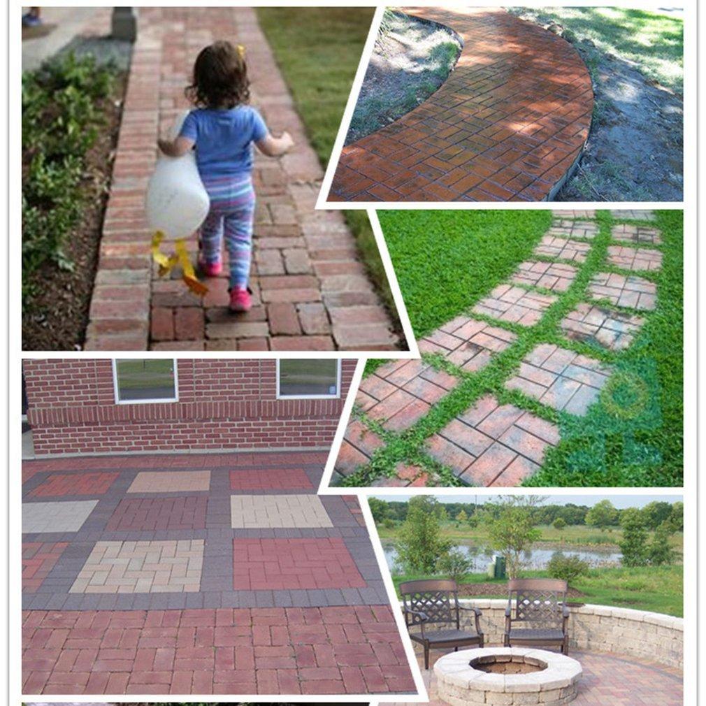 leoboone DIY Patrones Irregulares/rectangulares Pavimento Personalizado Hormigón Ladrillo Piedra Jardín Decorativo Exterior Césped Fabricante, ...