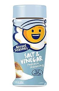 Kernel Season's Salt & Vinegar Popcorn Seasoning, 3.25 Ounce Shakers (Pack of 6)
