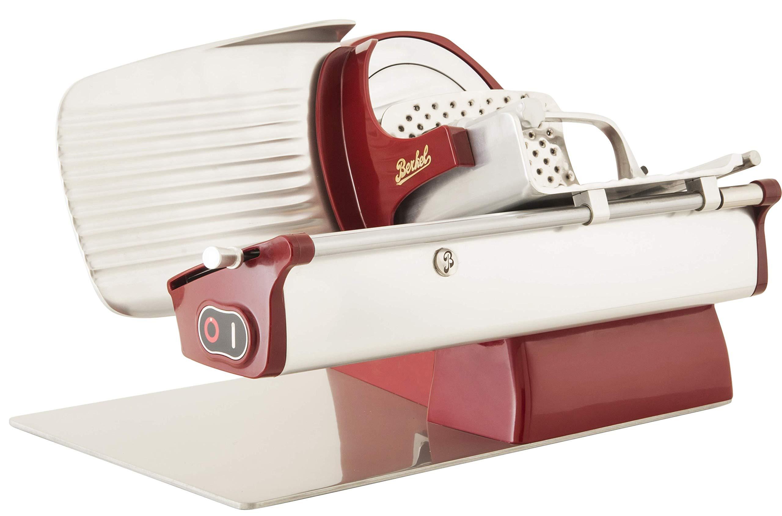Berkel Home Line 200 Red Stainless Steel Electric Slicer by Berkel