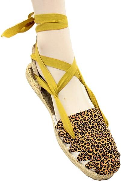 Alpargatas Leopardo con suela de goma y yute