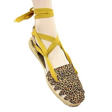 espadriles.com Mädchen Espadrilles, Mehrfarbig - Leopard - Größe: 21