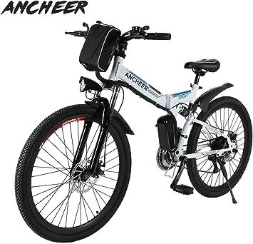 Ancheer Bicicleta Eléctrica de Montaña Bicicleta Eléctrica de 26 ...