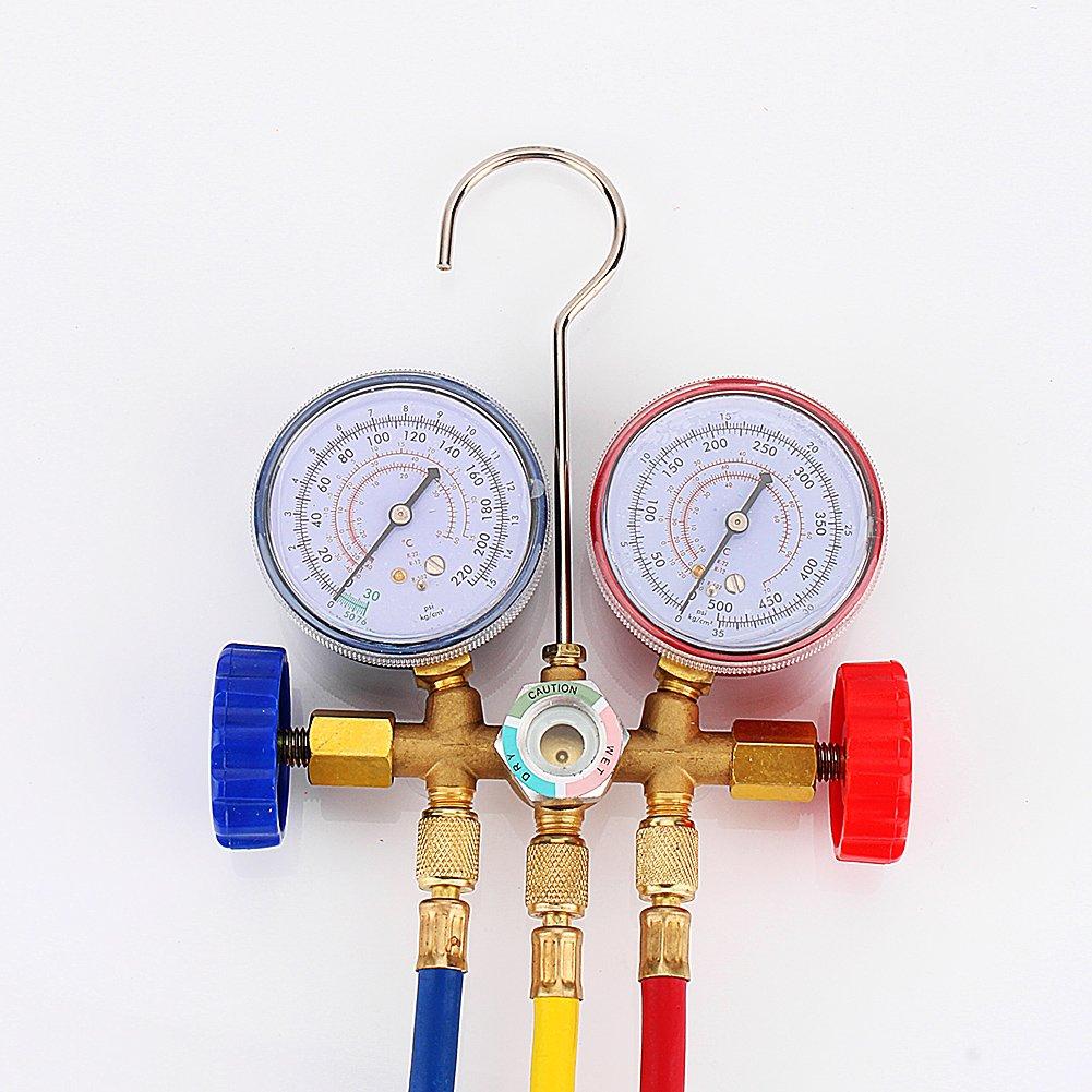 Yosoo New Refrigeration Air Conditioning AC Diagnostic Manifold Gauge Tool Set