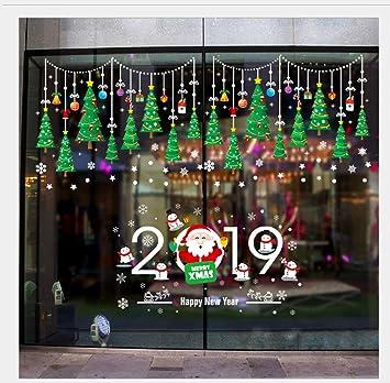 Bilder Weihnachtsdeko 2019.Leegicst Weihnachtsdeko Weihnachtssticker Weihnachtsbaum 2019