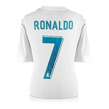 2704346804e Exclusive Memorabilia Cristiano Ronaldo Signed 2017-18 Real Madrid  Authentic Football Shirt  Amazon.co.uk  Sports   Outdoors