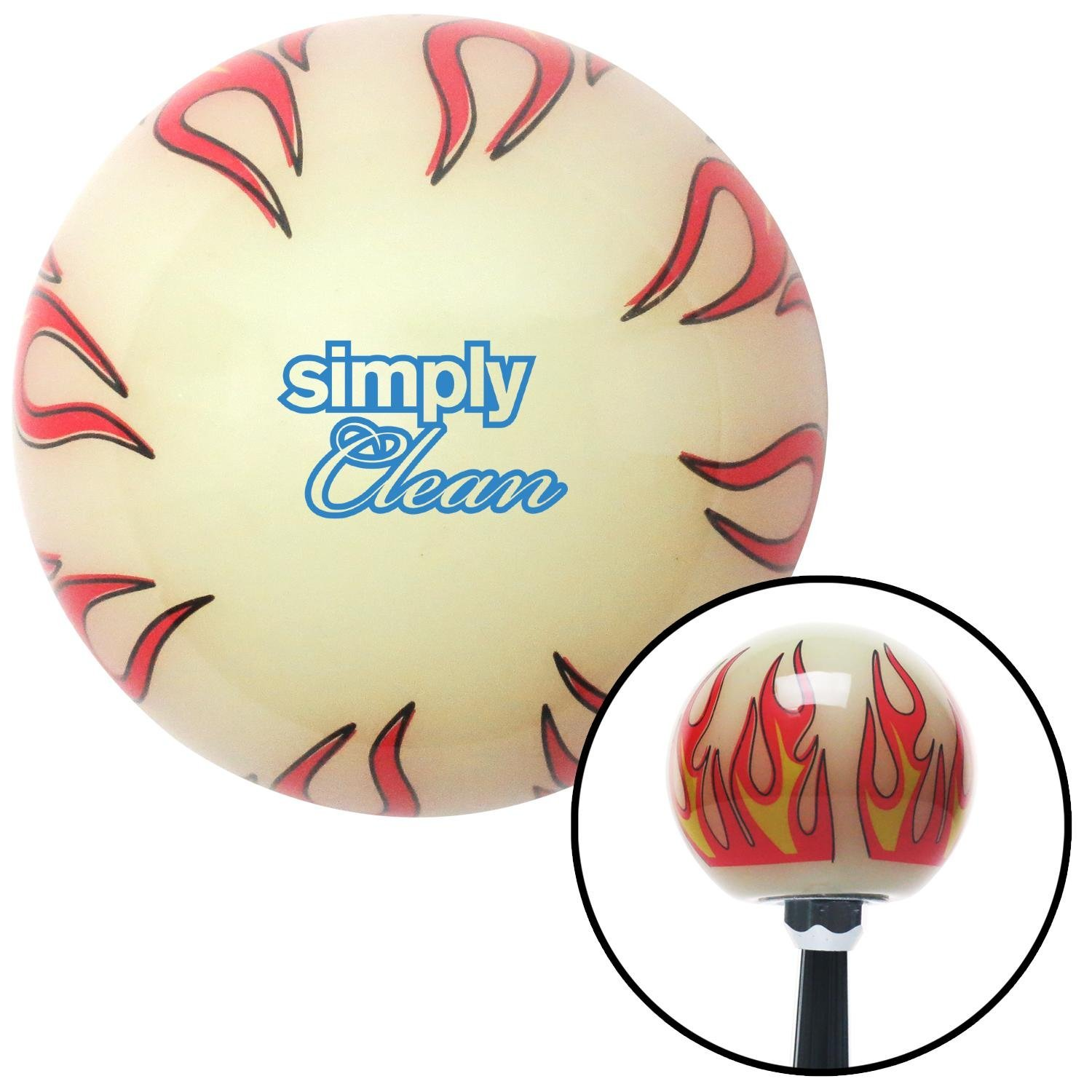 Blue Simply Clean Ivory Flame American Shifter 293911 Shift Knob