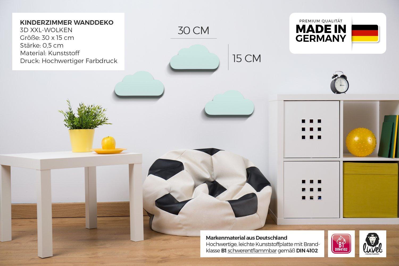 Liebenswert Babyzimmer Wanddeko Beste Wahl Luvel (m6) - 3er Set Xxl Wolken