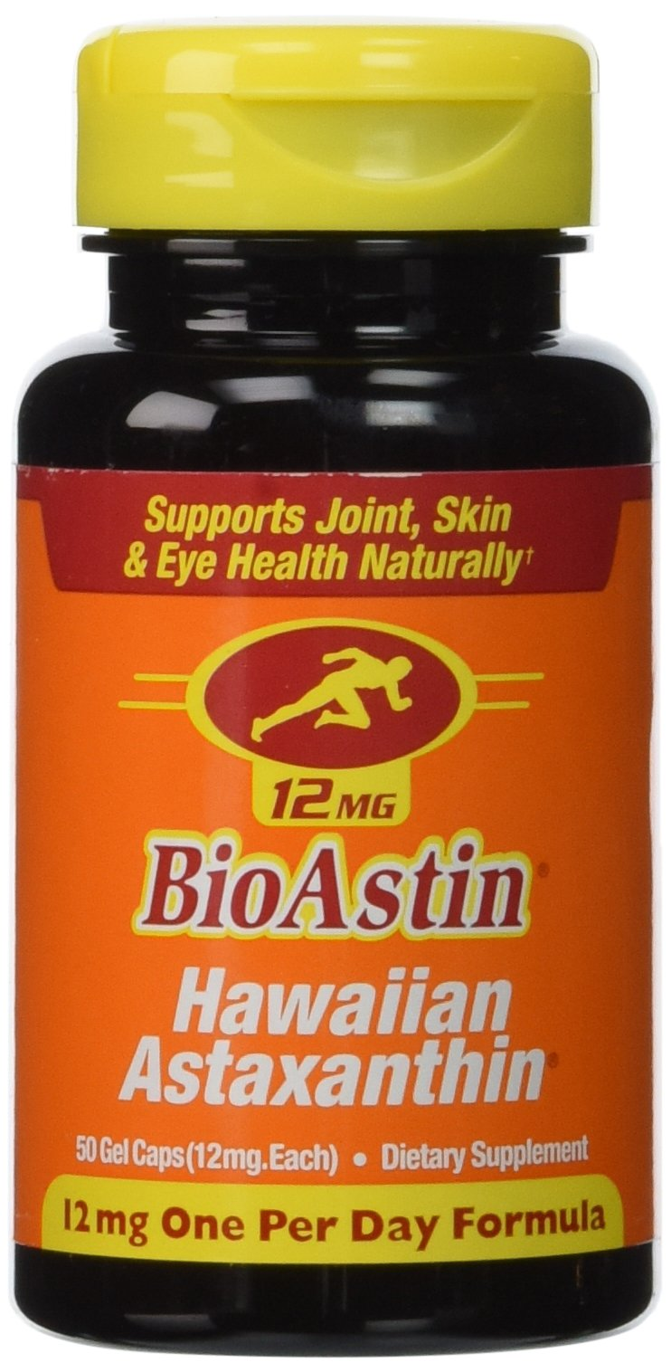 Nutrex Hawaii BioAstin Hawaiian Astaxanthin, 50 Gel Caps supply, 12mg Astaxanthin per Serving (Pack of 3)