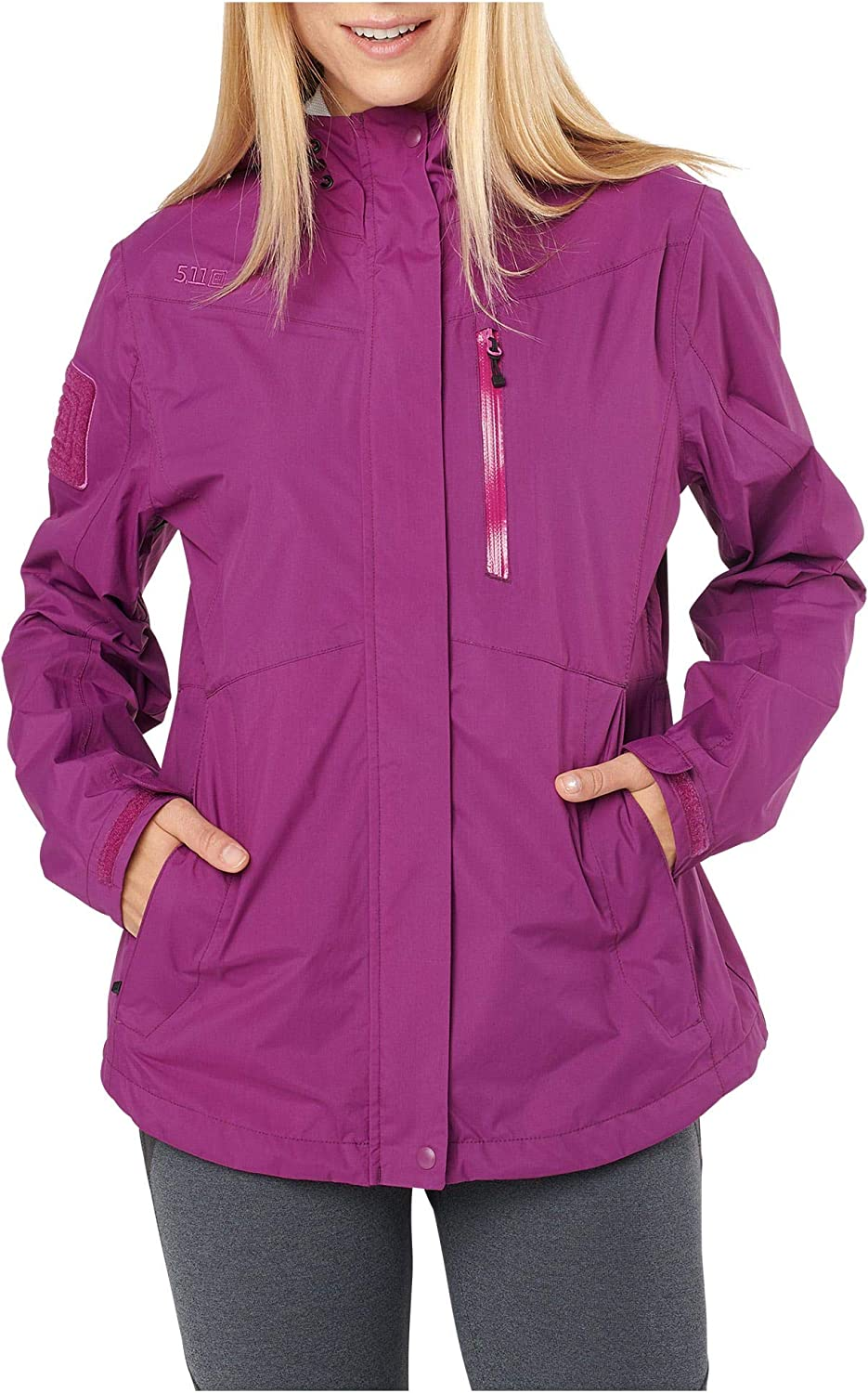 5.11 Tactical Women's Polyester Aurora Waterproof Shell Jacket, Style 38077