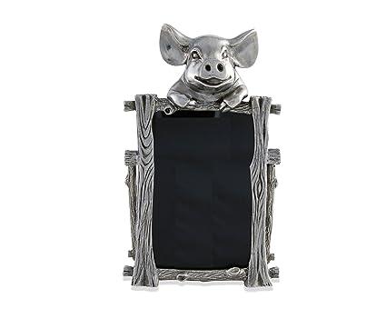 Amazon.com - Vagabond House Pewter MacDonald s Piggy Nursery Frame 5 ...