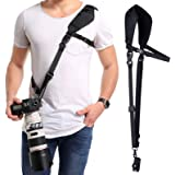 waka Camera Neck Strap with Quick Release, Safety Tether and Underarm Strap, Adjustable Camera Shoulder Sling Strap for…