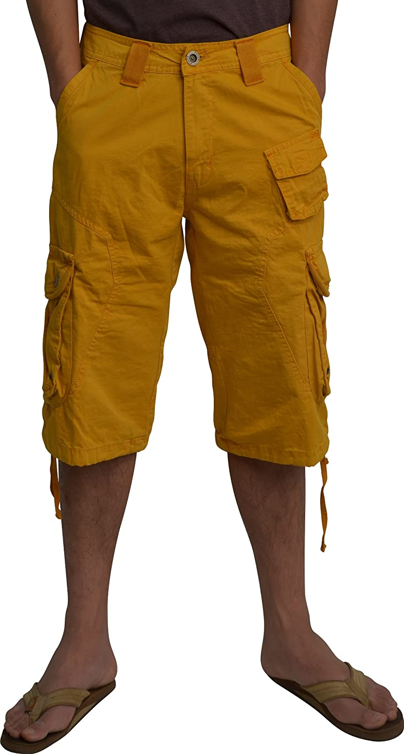 STONE TOUCH Mens Cargo Pocket Shorts Military_Style Size:30-54#A8s