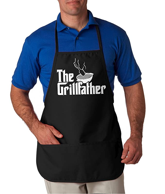 31786857ed1 Amazon.com  The Grillfather Apron Funny Movie Parody Summer Cookout Aprons  One Size Fits All  Clothing
