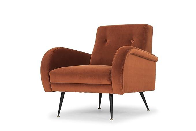 Amazon.com: Nuevo Hugo Occasional Chair in Matte Rust ...