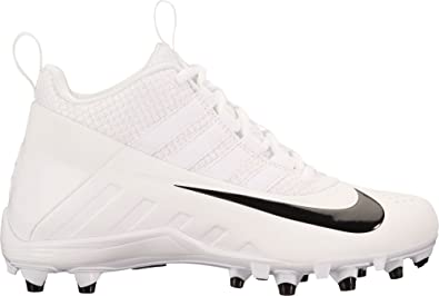 size 40 7e2be e038a Nike Kids  Alpha Huarache 6 Lacrosse Cleats (2.5, White Black)